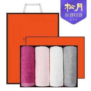 [송월타올] 송월 솔리드뱀부얀 210g 4P 타올세트