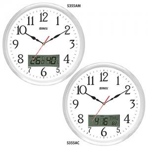 시닉스 알루미늄 온도습도계시계 S355AM/355AC