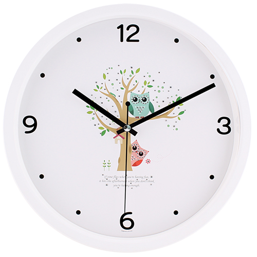 부엉이큐빅무소음벽시계 JS5117