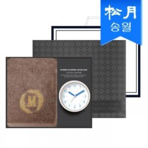 타올시계선물세트(메이저150g 1p + 욕실시계 1p)+쇼핑백 s